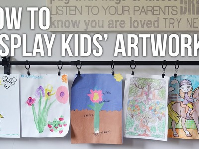 Tip Tuesday: How to Display Kids Artwork