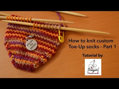 Tutorial #6 - How to Knit Custom Toe-Up Socks - Part 1 (Cast on with DPNs)