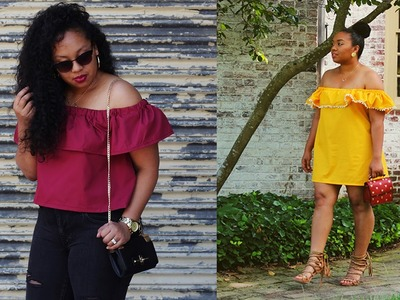 2 in 1: How to Make an Off the Shoulder Top and Dress (For Beginners)