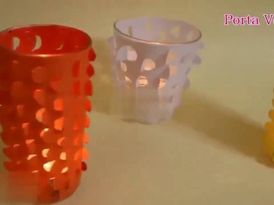 Beautiful Table Lamp | How to make Paper Lamp | DIY Candle Lamp | How to make a Candle lamp