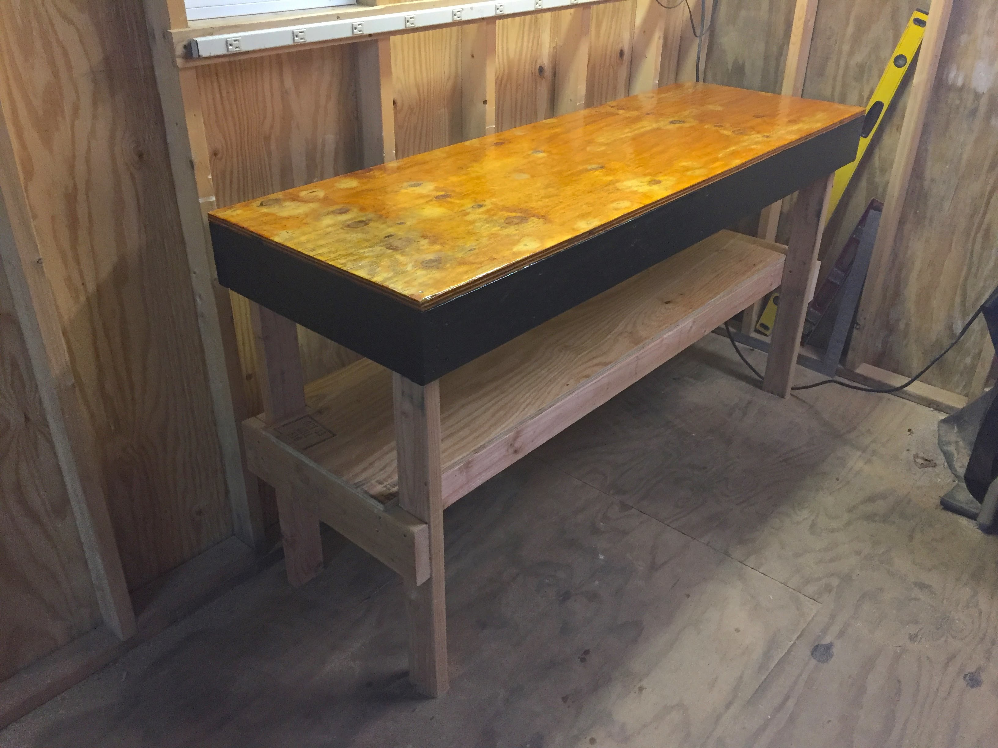 """DIY How to Build a Heavy Duty Workbench (6'x2'x38"""") Easy Instructions, for under $50"""