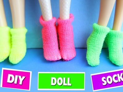 DIY | How to make Doll Socks - Easy Doll Crafts - Simplekidscrafts
