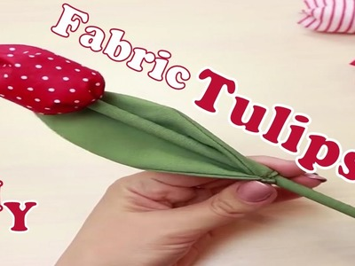DIY How to make fabric tulips | Nifty | 5 Minute Crafts