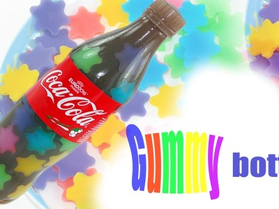 DIY How To Make Rainbow Star Coca Cola Bottle Pudding Jelly DIY