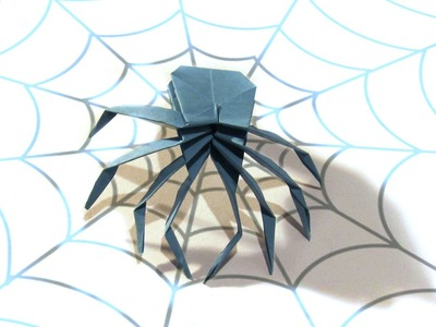 Halloween Origami Spider - Tutorial - How to make an origami Spider