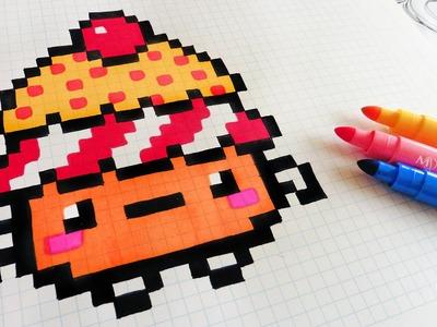 Handmade Pixel Art - How To Draw Kawaii CupCake #pixelart