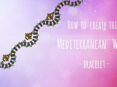 How to create this Mediterranean wave bracelet (073)