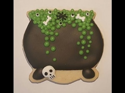How to decorate a spooky witches cauldron sugar cookies