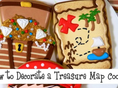 How to Decorate a Treasure Map Cookie