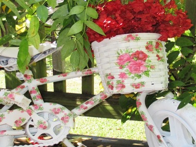 How To Decoupage a Basket 2016