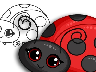 How to draw a Ladybird | Step By Step Drawing