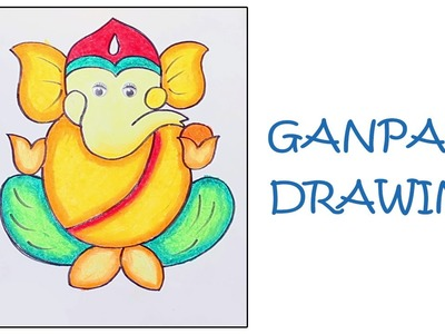 How To Draw Lord CHILD GANESHA Drawing For Kids