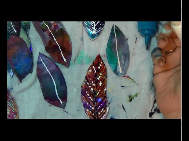 How to embellish Cd feathers  (Episode 05)