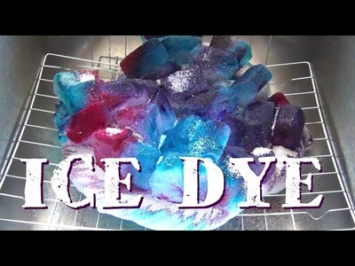 How To Ice Dye ♥ Watercolor Fabric Effect