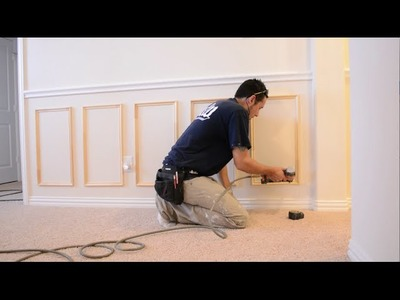 How to Install Chair Rail and Picture Frame Moulding