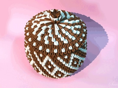 How to make 3d origami Basket 10 - part2