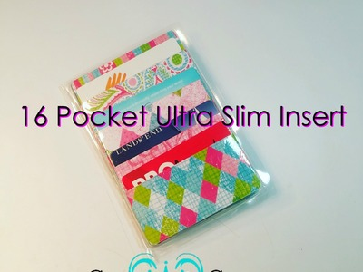 How To Make A 16 Pocket Ultra Thin Insert For Your Wallet or Planner