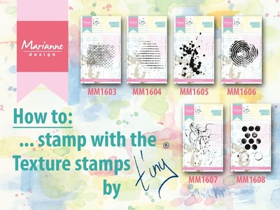 How to make a card with the Texture stamps by Tiny Harts