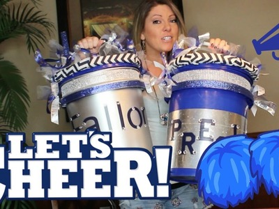 HOW TO MAKE A CHEERLEADER CHEER BUCKET or FLEXIBLE CLASSROOM SEATING