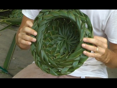 How to make a Coconut Palm Leaf Hat -  Part 2 of 2!