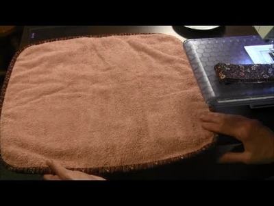 How to Make a Dish Drying Mat from an Old Towel (Recycling Craft)