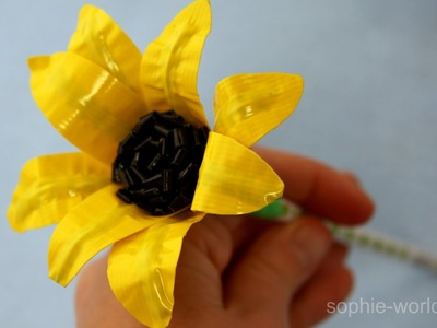 How to Make a Duct Tape Sunflower Pencil | Sophie's World