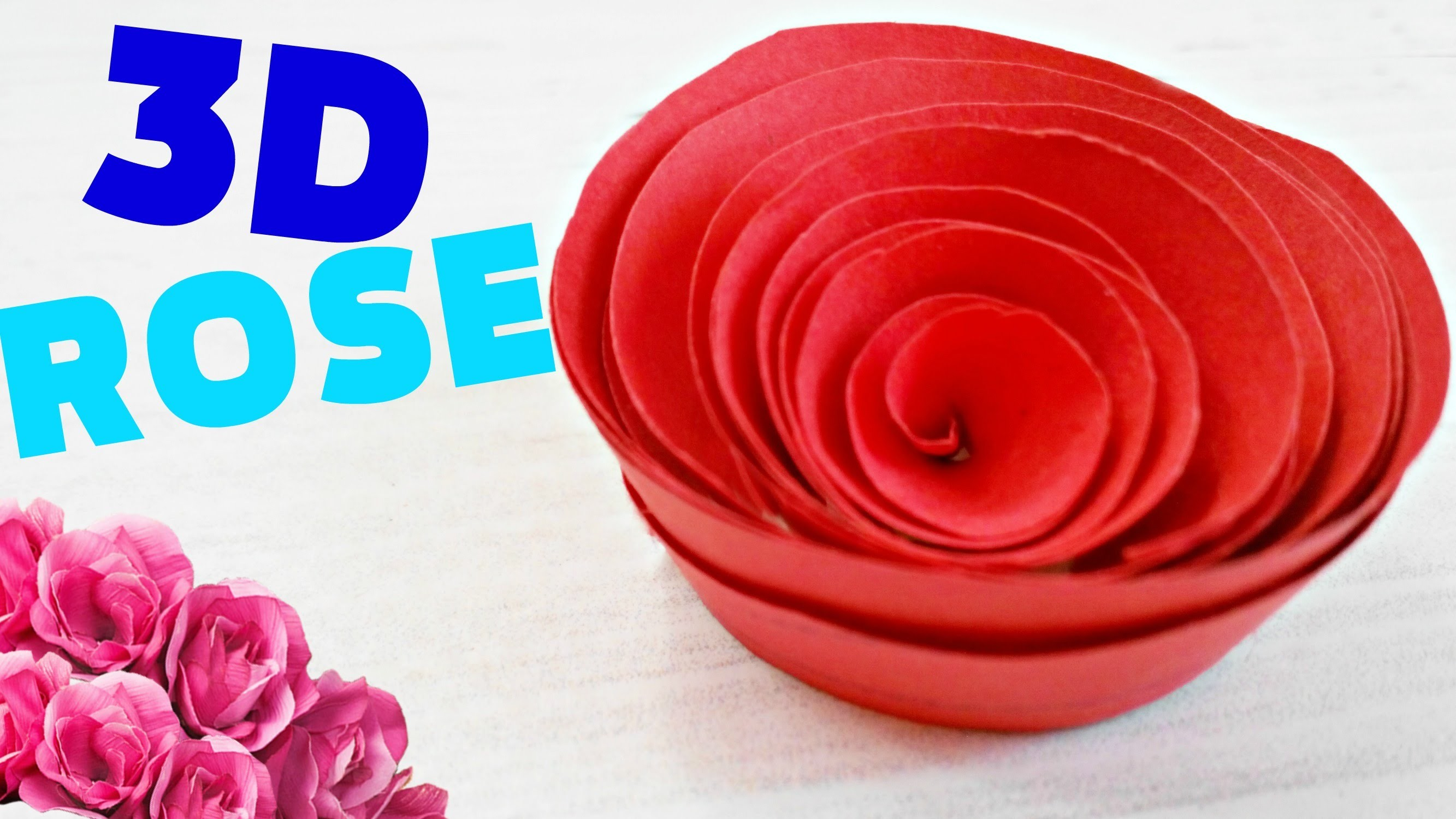 How to make a flowerrose out of paper origami easy steps for kids for beginners