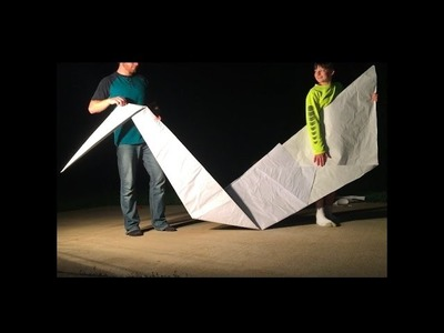 How To Make A GIANT Origami SWAN!! Includes Making Giant Origami Paper!