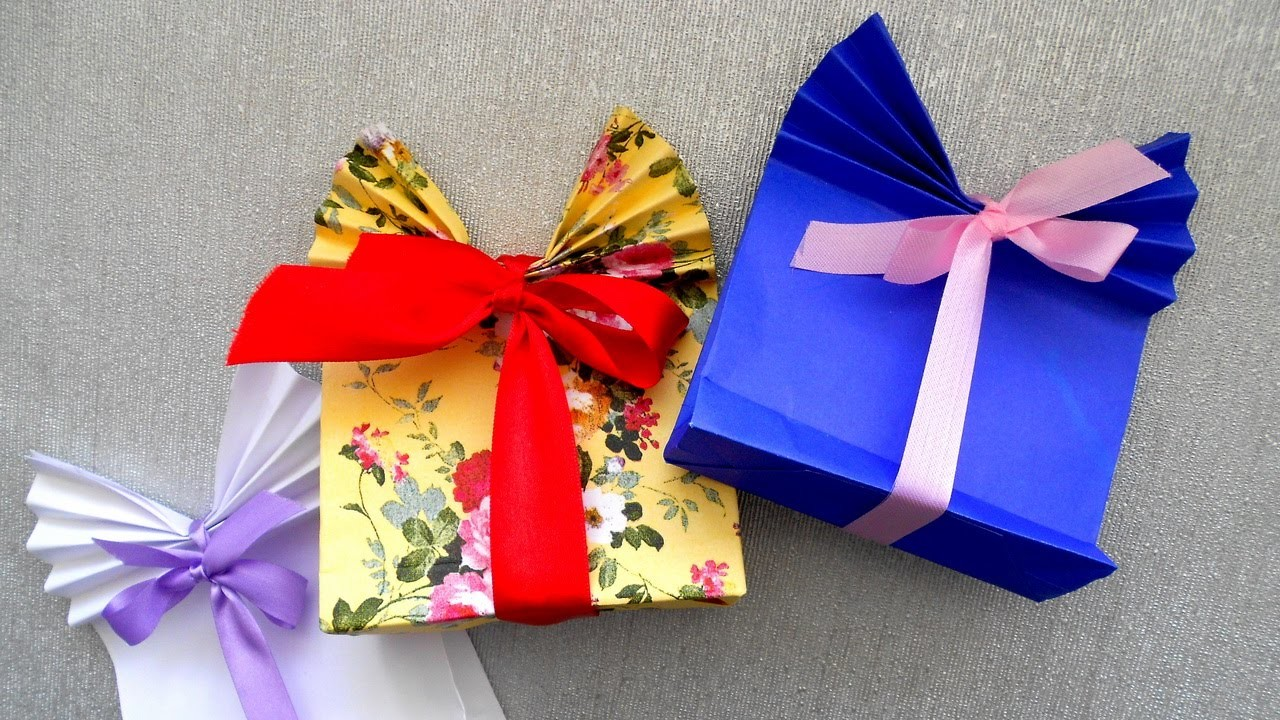 How to make a Gift  Bag made of Paper. Origami Tutorial. Very easy and simple.