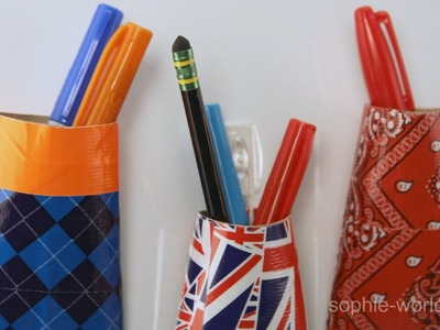 How to Make a Locker Pocket from a TP Tube   Sophie's World