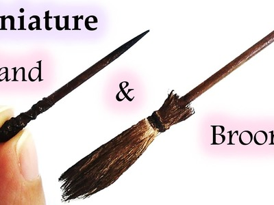How To Make A Miniature Halloween Witch's Broom & Magic Wand