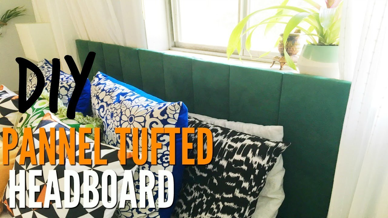 How To Make A Panel Tufted Headboard | Tutorial