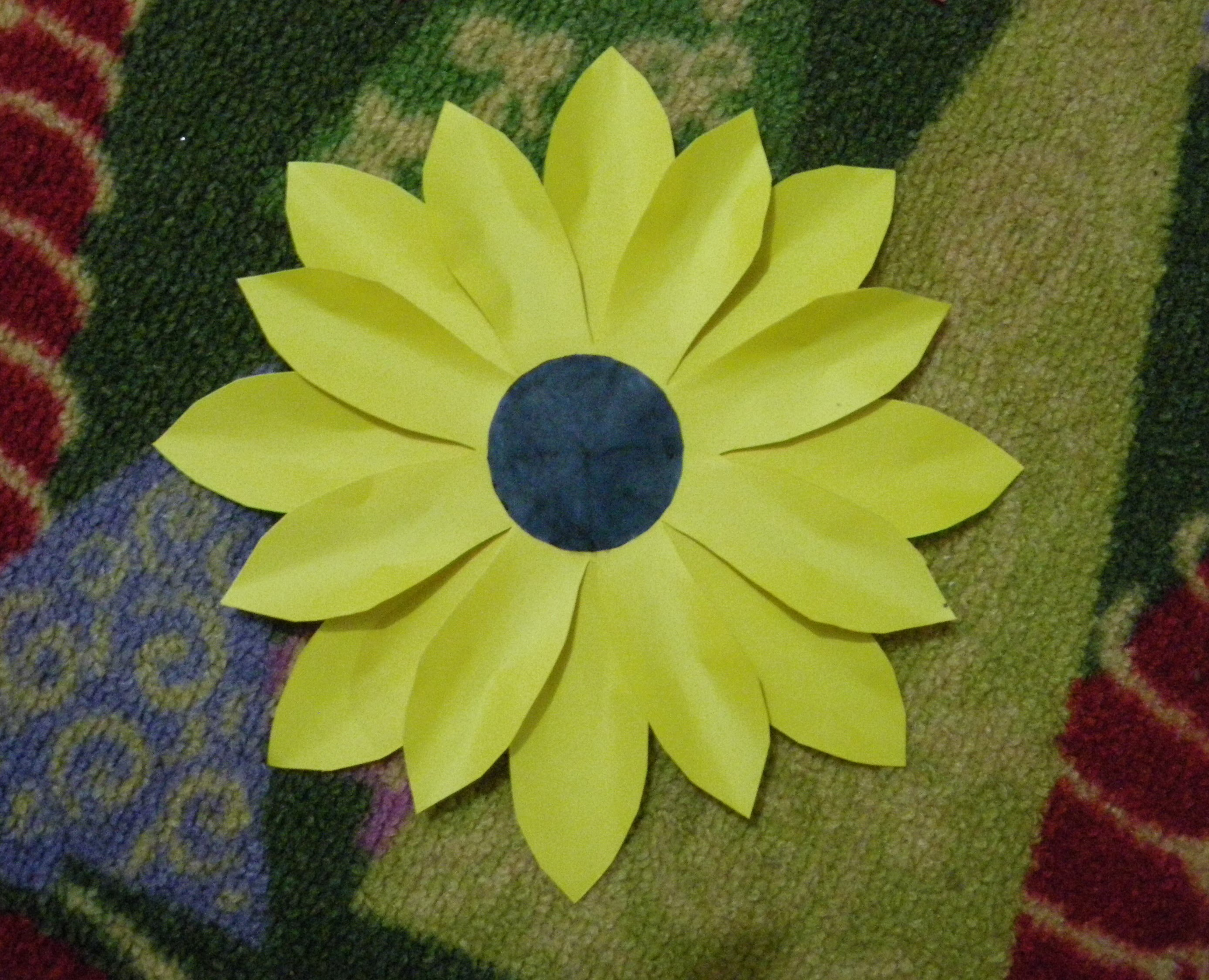 How to make a paper flower tutorial sunflower paper crafts mightylinksfo