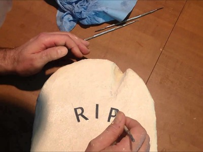 How to make a paper mache tombstone part 2 youtube