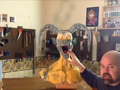 How to make a paper mache joker part4