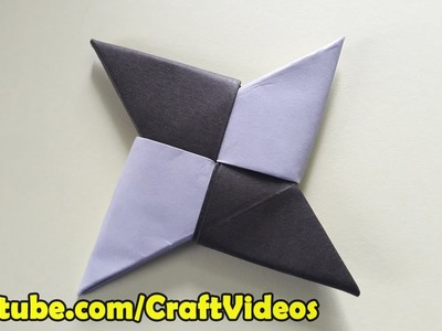 How To Make A Paper Ninja Star Easy | Origami Ninja Star Easy