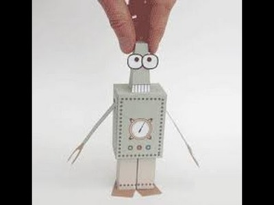 how to make paper robot at home