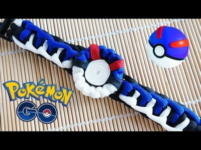 How to Make a Pokemon Go! Great Ball Paracord Bracelet Tutorial