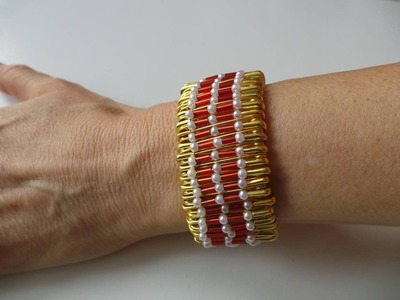 How to make a safety pin bracelet