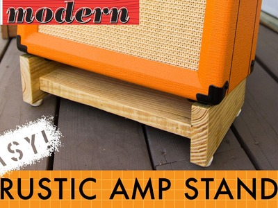 How to make a simple amplifier stand