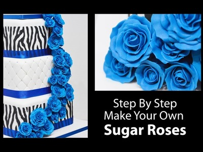 How To Make A Sugar Rose - Step by Step