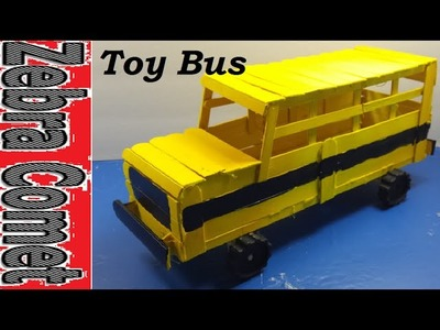 How To Make A Toy School Bus (Using Popsicle Sticks)