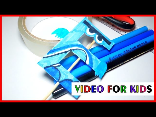 How to make alphabet letters with paper - letter e