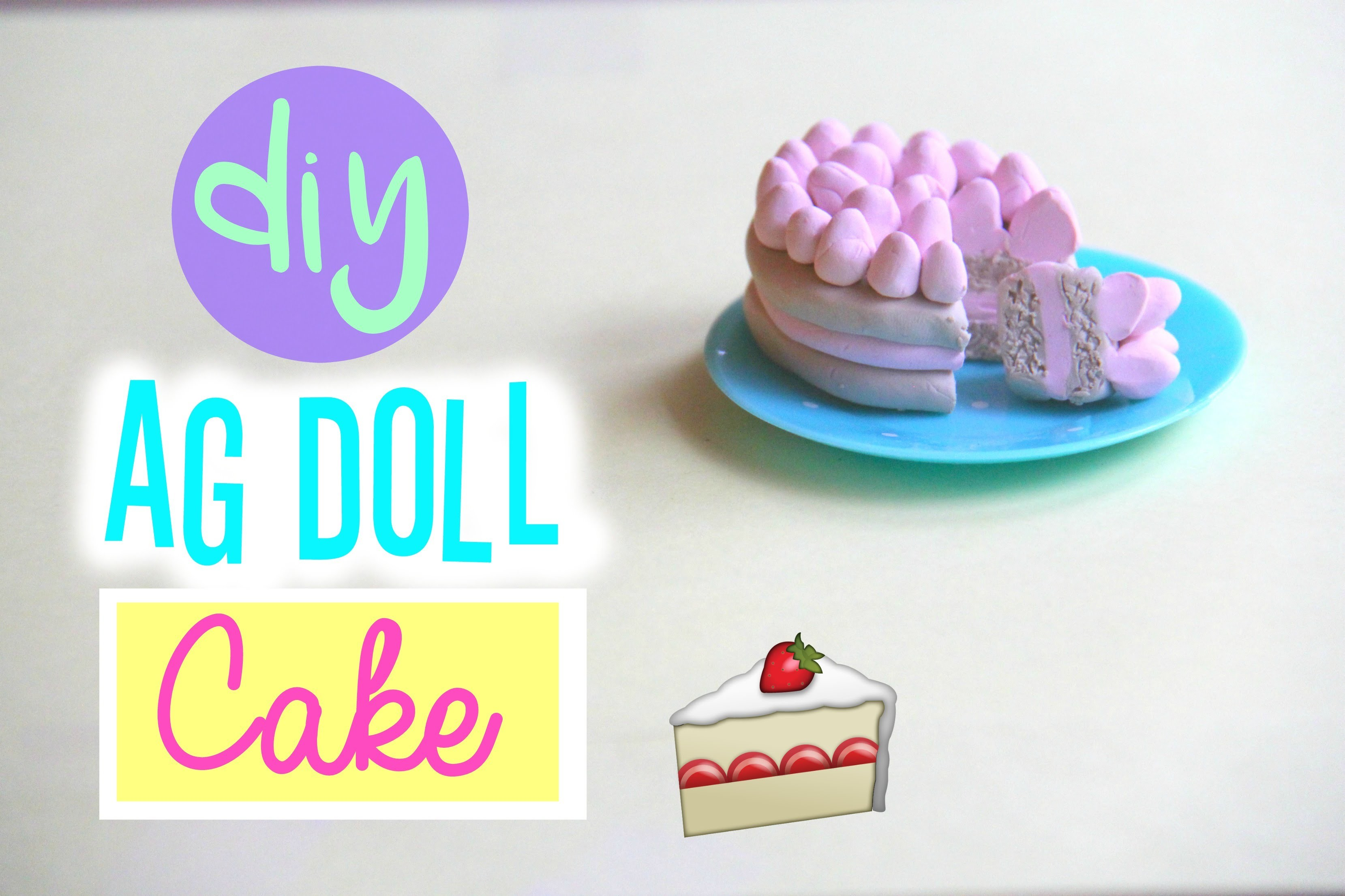 How to make an American Girl Doll Cake! With Polymer Clay!