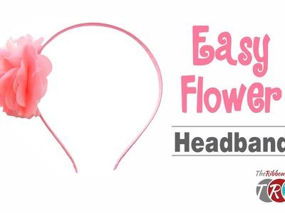 How to Make an Easy Flower Headband - TheRibbonRetreat.com
