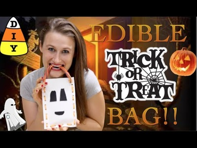 How To Make An Edible Halloween Trick or Treat Bag!!!