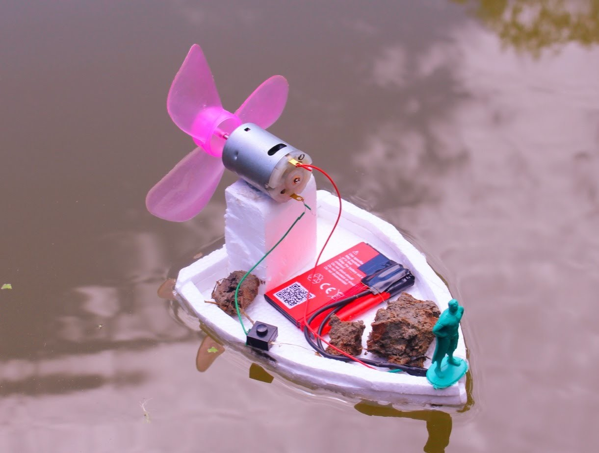 How to make an Powerful Electric Air Boat - Very Easy Way