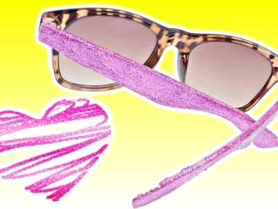 How To Make Awesome DIY Glitter Sunglasses | Fun Back To School Crafts with DCTC