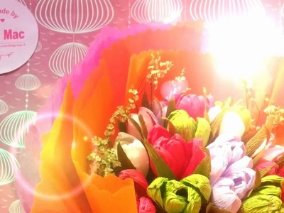 How to make beautiful Easy paper tulip flowers - Handmade by Dzung Mac