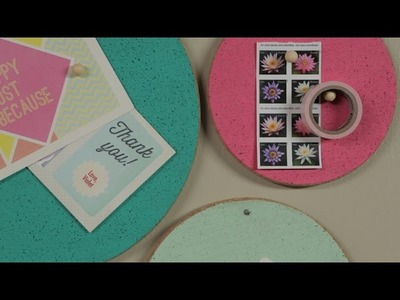 How to Make Corkboard Message Circles